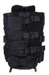 Mil-Tec tactical vest met kraag zwart nu €39,95 Plaatje