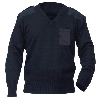 Fostex commando trui v-hals 50% wol blauw Aanbod Kleding